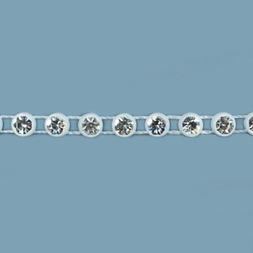 Notions - In Network Expo Strass Trim 3/20,3 cm 10 Meter, weiß -