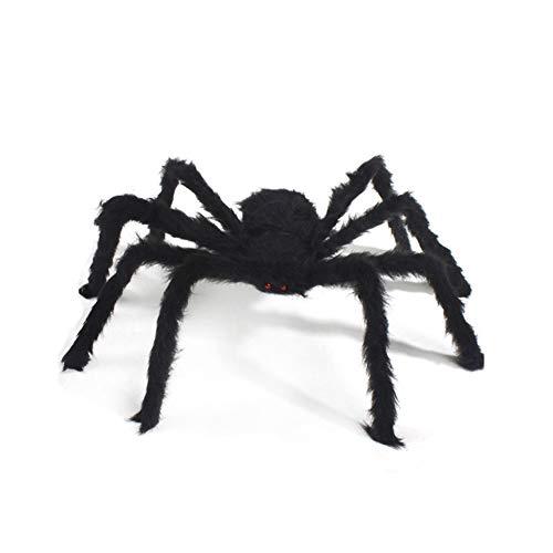 ZYCX123 Halloween-Dekorationen Riesige Schwarze Spinne Reale Plüsch Spinne für Outdoor-Party-Schlafzimmer-Dekor 150cm