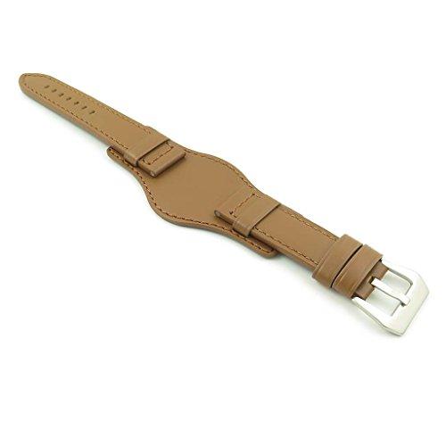 DASSARI Empire marrone per orologio da polso, in pelle italiana di Bund per...