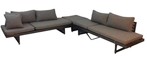 Ribelli Outdoor Lounge Set 'Gran Canaria'- Loungemöbel Garnitur 3 teilig für Garten & Terrasse -...