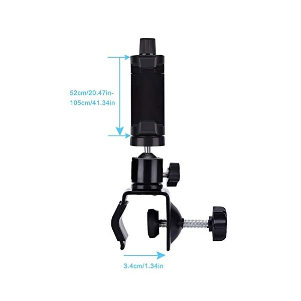 """Eurobuy Baby Camera Monitor Mount, 360 Degrees Rotatable Adjustable Holder, Keep Your Baby in Sight, Suitable for Most Baby Monitors Equipment Eurobuy ☺【Always Keep An Eye On Your Baby】- This upgraded baby camera mount adopts cardan joint and supports 360 degree rotation, helps you take better care of your care. ☺【Compatible With Most Cameras】- With a adjustable mount, suitable for camera bottom diameters from 52mm to 100mm, as well as baby cameras with 1/4"""" threaded or tripod mount. ☺【Protective Guard & Anti-skid Silicone Pad】- Protective guards of clip help to hold the camera more stable and firmly; Soft anti-skid silicone pas to protect your device from scratches. 6"""