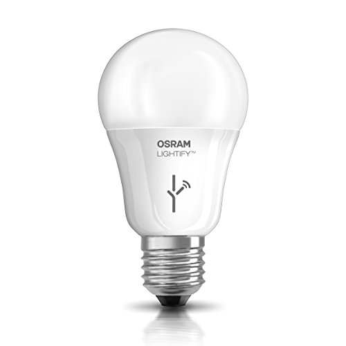 Osram Lightify Classic A LED Glühlampe, 10 Watt, E27, matt, Dimmbar, Warmweiß, Kompatibel mit Alexa 4052899926097