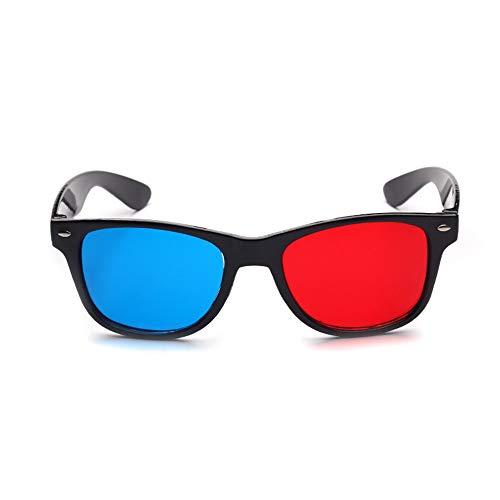 LIUYUNE,2018 Neue Universal 3D Brillengestell Rot Blau 3D Visuelles Glas Größe Stereofilm DVD Video Und TV Spiel(Color:SCHWARZ)