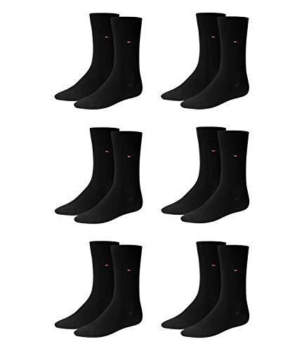 Tommy Hilfiger Herren Socken, 6er Pack (43/46, schwarz (black)) -