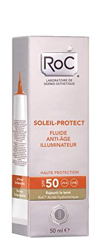ROC Soleil Protect - Fluido Iluminador, Anti-Edad, SPF50, 50 ml