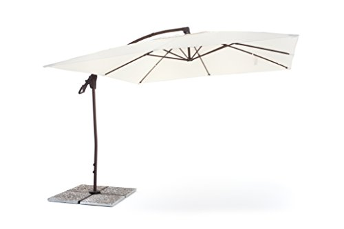 My garden ombrellone suitset 3x3 ecrù