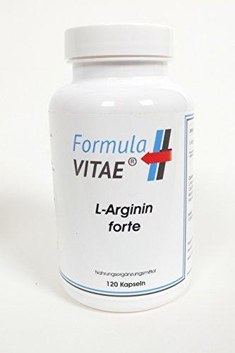 L-Arginin Forte - HOCHDOSIERT und BIOAKTIV- 4200 mg - 120 Kapseln - Deutsches Produkt, Vegi-Kapseln, Booster für Muskelaufbau und Fettverbrennung, Durchblutung wird gefördert
