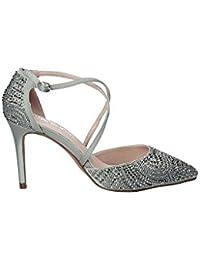 Alma en Pena Zapato de Tacã³n Mujer V18163 Satinado