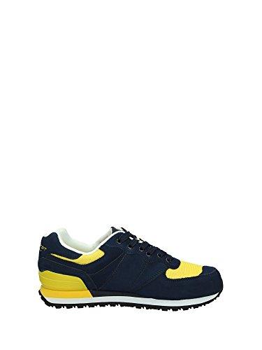 Baskets Ralph Lauren Slaton bleu marine et jaune pour homme Jaune