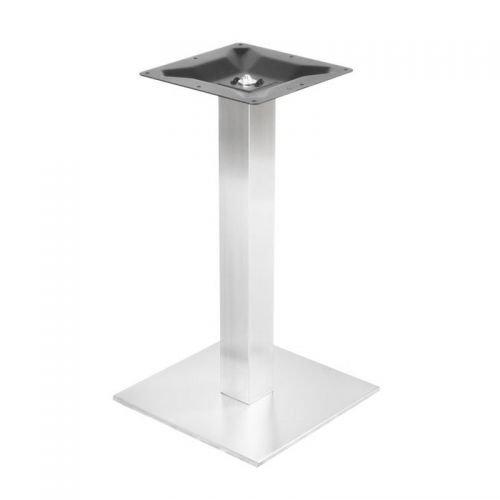 Tischgestell aus Edelstahl, fein gebürstet