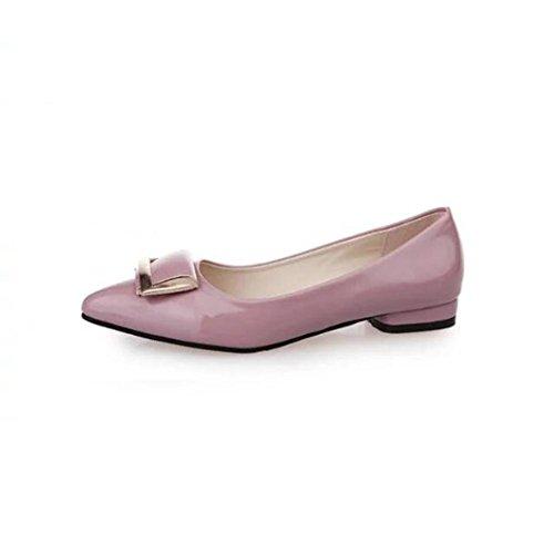 chaussures à talons printemps/ soft box boucle pointu/Asakuchi plat Joker chaussures femme A