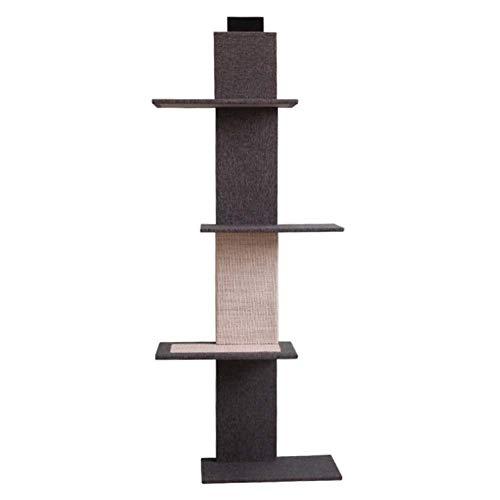 SHIJINHAO-Katzenbaum Multifunktion Hängendes Design Leiter Massivholz Verschleißfest Haustier Kletterwand (Color : Gray, Size : 44x24x150cm)