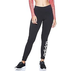 adidas W E Lin Tight Pantalons de Compression Femme, Noir/Blanc, FR (Taille Fabricant : XL)