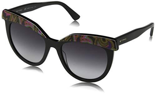 Etro et647s 014 54 occhiali da sole, nero (black paisley), donna