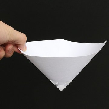 50 stücke 100 Mesh Papier Farbe Sieb Nylon Voll Flow Konischen Kegel Filter Trichter (Filter-kegel)