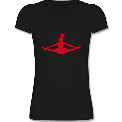 Sport Kind - Cheerleading - 134-146 (9-11 Jahre) - Schwarz - F288K - Mädchen T-Shirt