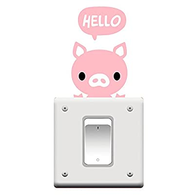 amazing-trading(TM) 5pcs Cute Lovely Cat Series Light Switch Stickers - cheap UK wall light store.