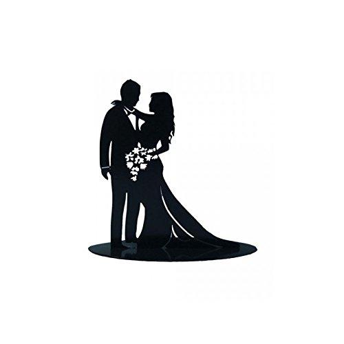 FIGURA PASTEL METÁLICA ENAMORADOS Pareja de novios con bonitos acabados para poner sobre el pastel de bodas. Medidas: Medidas: 18 x 7 x 18cm