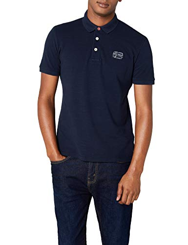 Napapijri Eyr Herren Poloshirt, Blau (Blu Marine 176), Large Preisvergleich