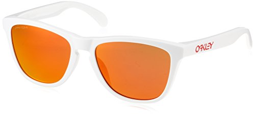 Oakley Men's Frogskins Asian Fit Sunglasses,OS,Polished White/Prizm Ruby Iridium