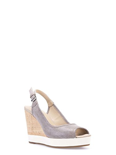 Geox D62P6G 000HM Sandalo Zeppa Donna Grigio