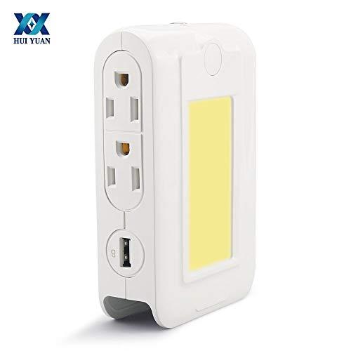 Qiong YaoTIAN Nachtlicht Multifunktionslampe LED Smart Induction Nachtlicht USB 3.1A Telefon Schnellladung 4 Steckdosen 110V-220V Mit Halter Funktion -