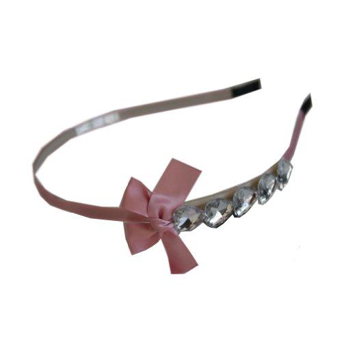 Jessidress Haarschleife Haarband Diademe Mädchen Haar Blume Rosa