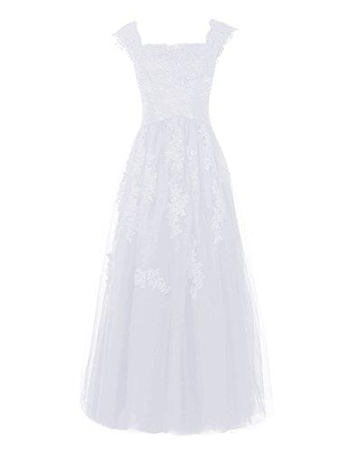 Find Dress Longue Robe de Mariée Hiver Princesse Femme Paillette Sexy Robe de Cocktail Soirée Formelle Demoiselle d'Honneur Femme Taille Personnaliser en Tulle avec Broderie Blanc