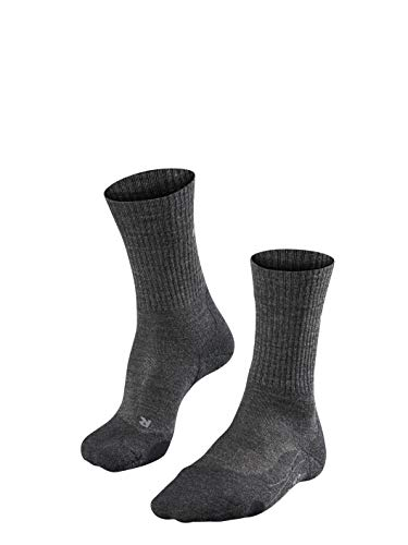 FALKE Herren Wandersocken TK2 Wool, Merinowollmischung, 1 Paar, Grau (Smog 3150), Größe: 42-43