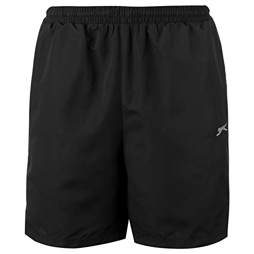 Slazenger Herren Tennis-Shorts, gewebt, elastisch, Taille, Training, Fitness, Workout Gr. 4X-Large, Black 2019 -