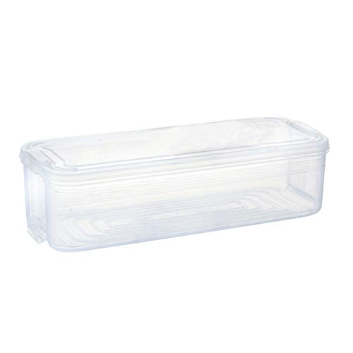 PerGrate 1 stück Kunststoff Lagerplätze Kühlschrank Lebensmittelbehälter mit Deckel für Küchenschrank Gefrierschrank