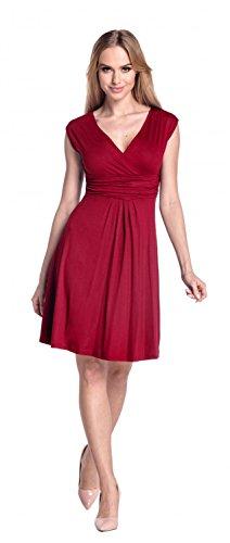 Glamour Empire Damen Skater Freizeitkleid Sommer Kleid Partykleid Gr. 36-46 256 Purpur