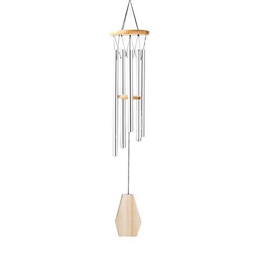Easy-topbuy groß Windspiel Glocken Wind Yard Garden Home Decor Ornament Metall Tube Glocken Wind Garden Kirche Decor (Gold Aufhänger Ornament Metall)