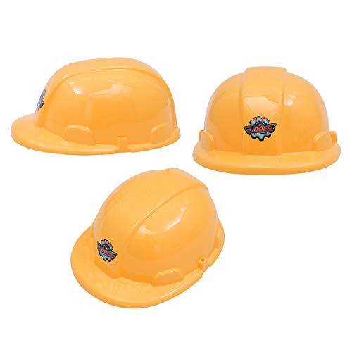 Toyvian 12 stücke Kinder BAU Helm kostüm Sicherheit schutzhelm so tun als Spiele Helm für Kinder (gelb)