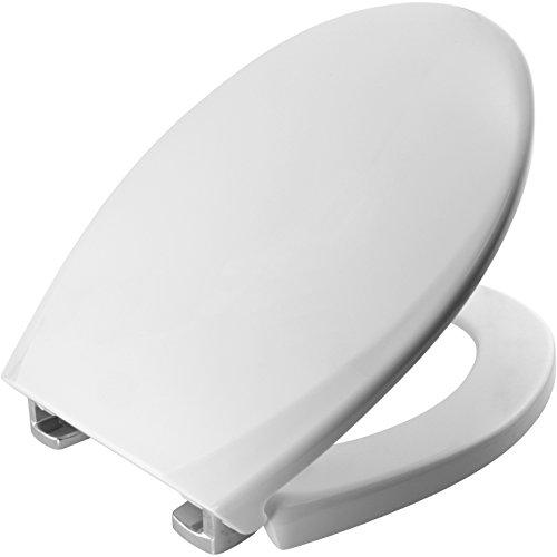 Bemis 3900CPT000 OXFORD Thermoplastik WC-Sitz mit STA-TITE Fixierungssystem, für ein wackelfreies Sitzvergnügen, Weiß - Wc-scharnier Bemis