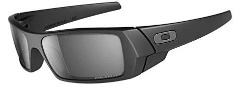 Oakley Men's Gascan Sunglasses (Matte Black Frame Polarized Black Mirror Lens)