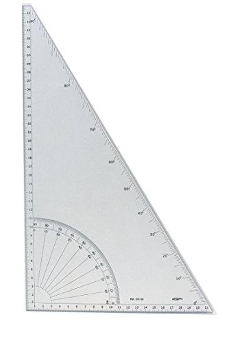 Geodreieck Grad/Dreieck 60° Grad-Skala, gerade Kanten, Transparent