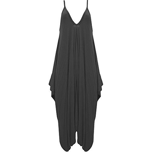 Femmes Harems Col V Harems Robe Combinaison Tout En Un Barboteuse Grande Taille Pour Femmes Black - Romper Playsuit Pants Harem Jumpsuit New