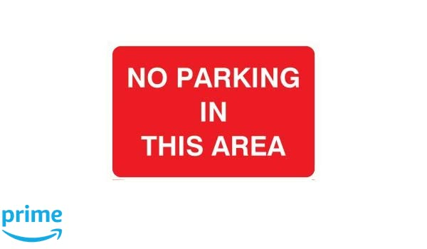 """LARGE SELF-ADHESIVE /""""NO PARKING/"""" SIGN 200mm X 300mm"""