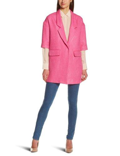 Sinequanone Damen Mantel Caban, Pink, Rose (Rose Bonbon), 40 (Herstellergröße: 42)