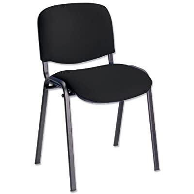 Trexus Stacking Chair Shaped-seat Seat W530xD590xH820mm Black