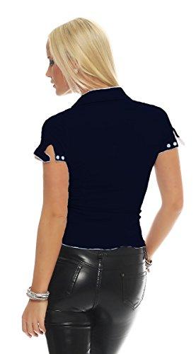 Fashion4Young - Chemisier - Femme bleu foncé