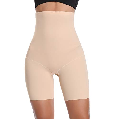 Joyshaper Figurformende Miederhose Nahtlose Miederpants Atmungsaktive Shapewear mit Bein Hohe Taille Perfekt als Unterwäsche (Beige, 3XL/DE...