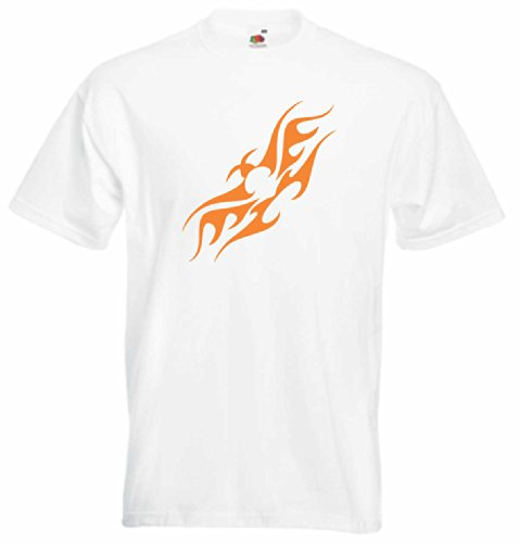 T-Shirt Herren Vögel des feuers Weiß