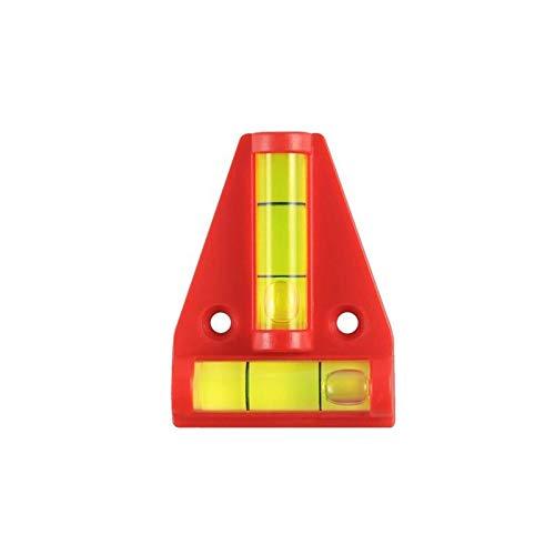 ProPlus 341214 Mini Wasserwaage Kreuzwasserwaage Pyramide mit 2 Libellen rechtwinklig angeordnet Maße: 5,5 x 4,5cm