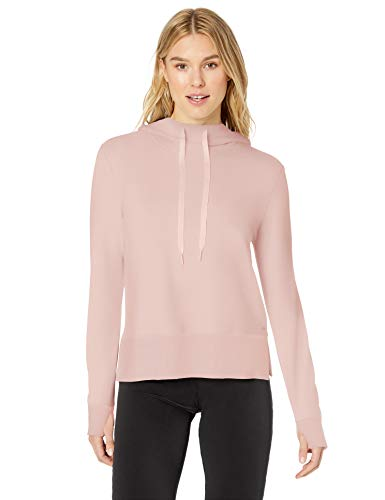 Amazon Essentials Studio Terry Long-Sleeve Convertible Hood Shirt fashion-hoodies, Lotus, US M (EU M - L) Rosa Terry Hoodie
