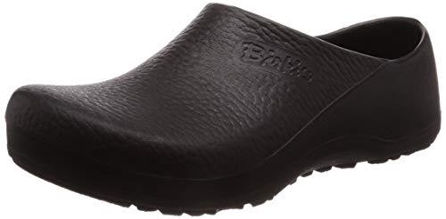 Birki Profi Birki 074011, Unisex - Erwachsene Clogs & Pantoletten, weites Fußbett, PU, schwarz (Black), EU 42