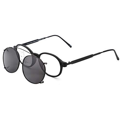 Lesebrille Dual-Use Farbwechsel Sonnenbrille HD Multi-Fokus-Runde Brille Qualitätsleser Federscharnier Brille zum Lesen für Männer und Frauen