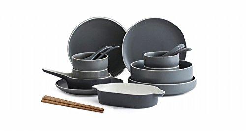 MJK Utensilios de Cocina para el Hogar, Juego de Platos Sencillo Hogar 2/4/6 Combinación de Vajilla Plato Plato Plato Plato Japonés Creativo,Do
