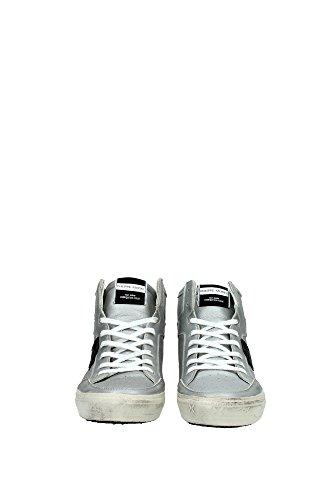 KNHUMC01 Philippe Model Sneakers Uomo Pelle Argento Argento